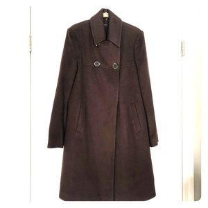 Tahari cashmere/wool lined 3/4 length coat, brown